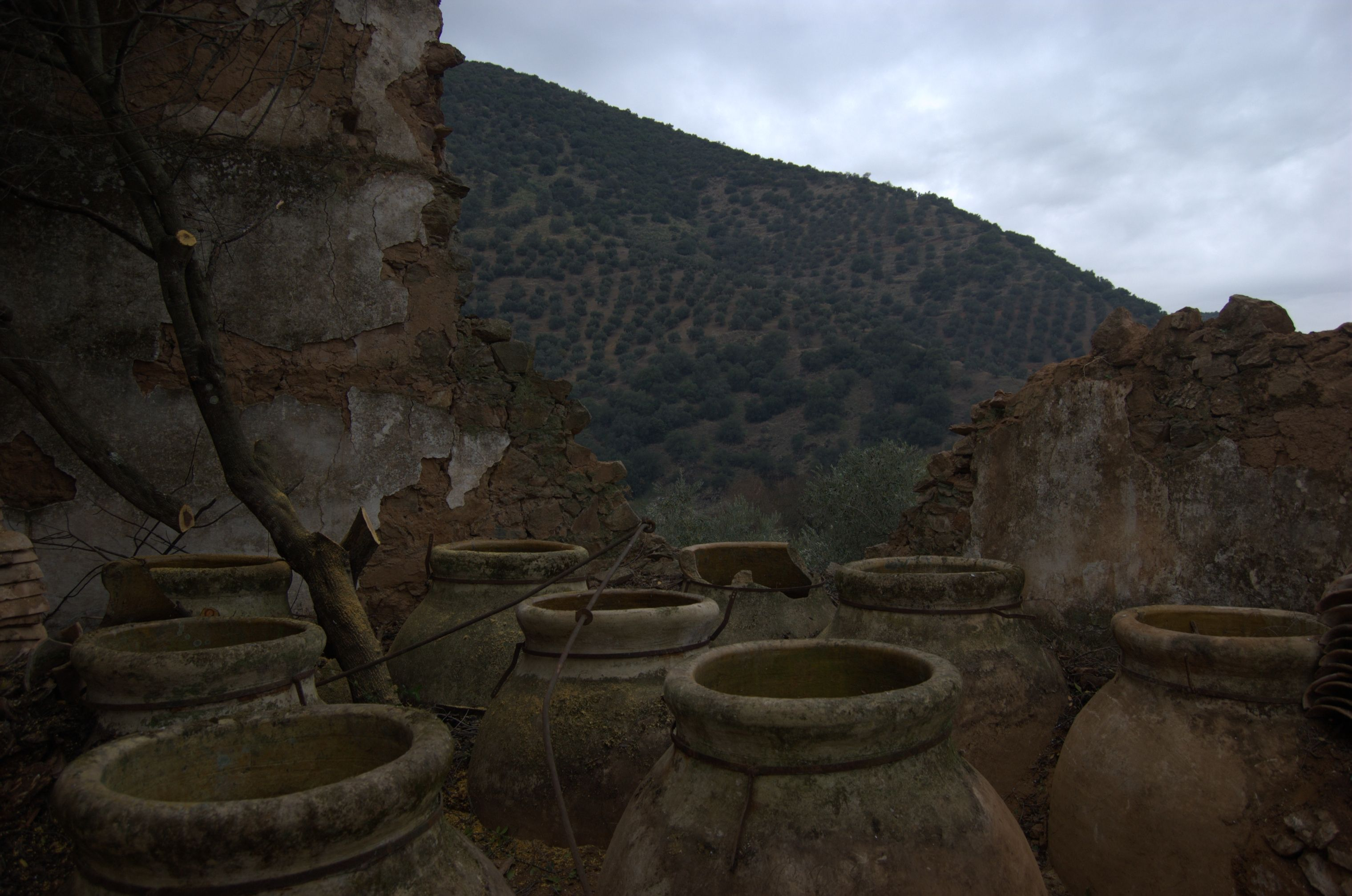 Tinajas del molino de los Agüillos en Adamuz
